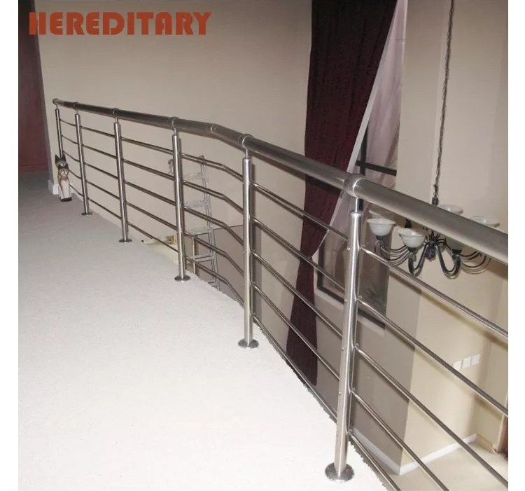 Interior Stainless Steel Rod Railing Modern Stair Railing Kits   Modern Stainless Steel Staircase Railing   Glass   Rectangle   Elegant   Modern Farmhouse   Hand