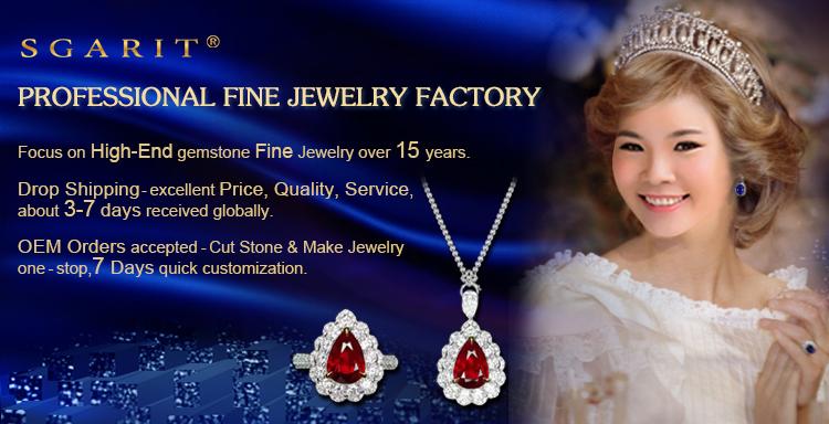 wholesale SGARIT brand natural gemstone jewelry 18k gold 4ct tourmaline engagement ring for women