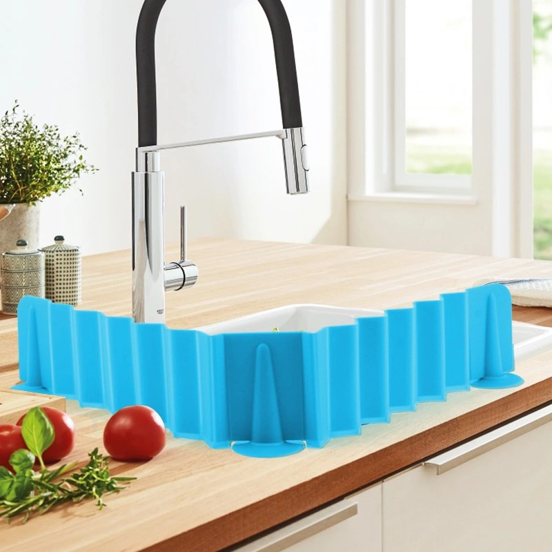 upgraded stretchable silicone sink water splash guards baffle for home products kitchen bathroom buy sink water splash guard water splash