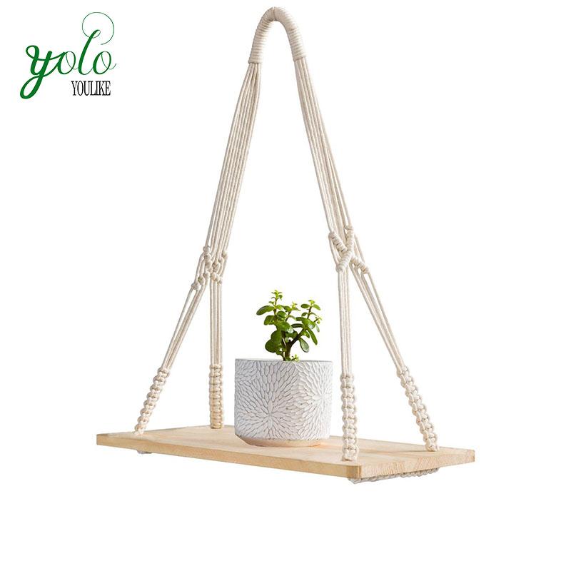 bambou etagere murale suspendue plante d interieur etagere balancoire corde etageres flottantes dans les chambres placards ou salles de bains buy