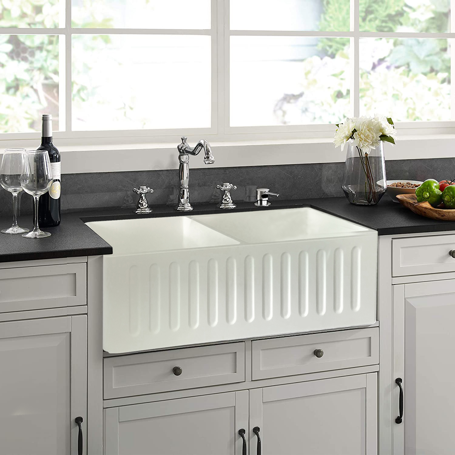 solid surface farmhouse front apron artificial marble kitchen sink buy cheap kitchen sinks white kitchen sinks kitchen sink supplier product on