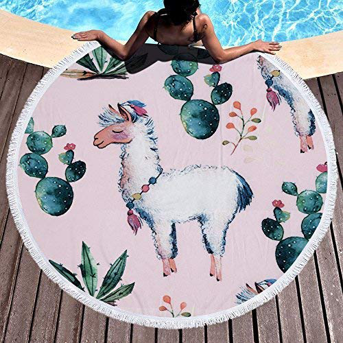 Wholesale Popular 100% Polyester Microfiber Never Faded Colored Fashion Round Beach Towel Cheap Low Price