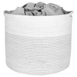 Buy Extra Large Storage Basket Cotton Rope Storage Baskets Woven Laundry Hamper Baby Toy Storage Bin For Toys Towel Blanket Basket In Living Room Baby Nursery 17 X 17 X 15 Extra