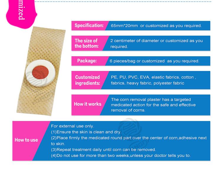 Free sample corn removal plaster/corn cap/corn plasters devices