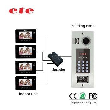 High Quality Multi Apartment Video Door Phone Building Audio Intercom System For Apartments