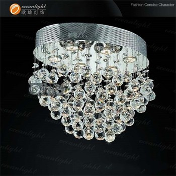 Small Spiral Rain Drop Low Ceiling Crystal Lamp Pendant Chandelier Om9229