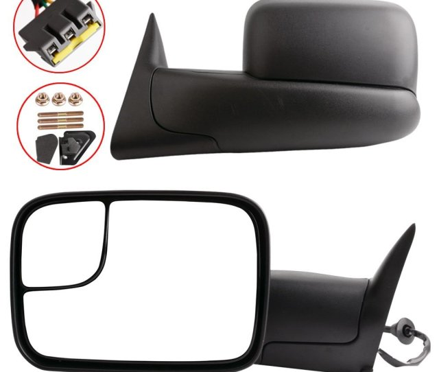 Get Quotations  C2 B7 Yitamotor Towing Mirrors For 94 97 Dodge Ram  Tow Mirrors Power Tow