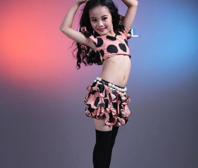 Wuchieal Girl Sexy Belly Dance Wear Kids Skirt Top Model
