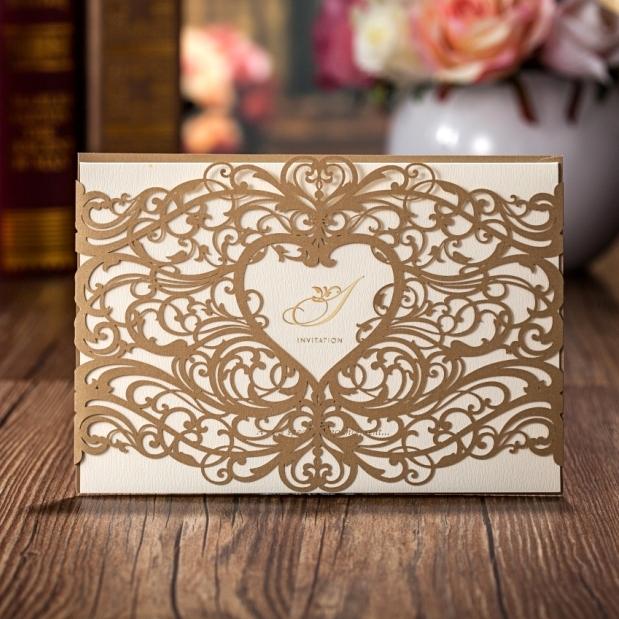 Wholesale Wedding Invitations Elegant Laser Cut Wedding