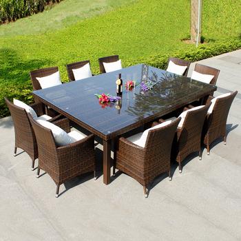 annabelle meubles de jardin en plein air tous les temps en osier rotin 10 places meubles