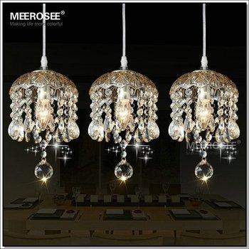 Birdcage Chandelier Rain Drop Crystal Lamp Mini Pendants Md2506 L3
