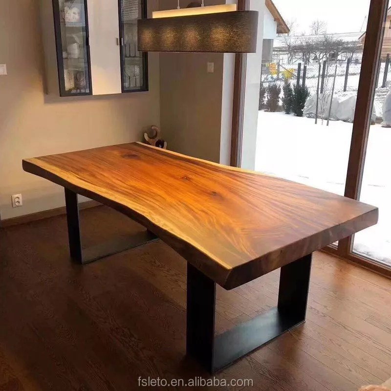natural wood dining table with metal legs live edge south american walnut slab table in stock kiln dry wood slabs buy walnut wood table wood