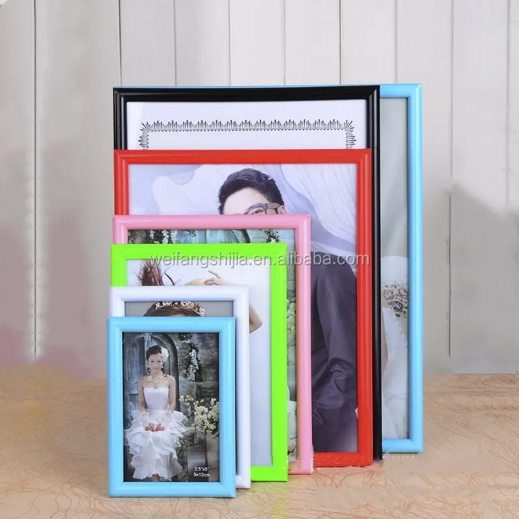 china factory wholesale all size colorful pvc photo frame a4 plastic picture frame 10x15 13x18 18x24 15x21 21x30 30x40 40x60 buy pvc photo