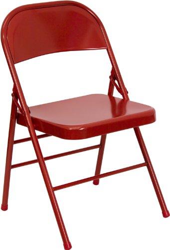 accueil furiture hercules serie triple embase et quad articule rouge chaise pliante en metal