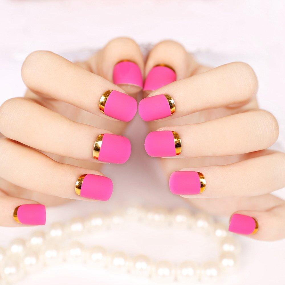 Buy Enforten False Fake Nails French Manicure Pretty Nail Designs