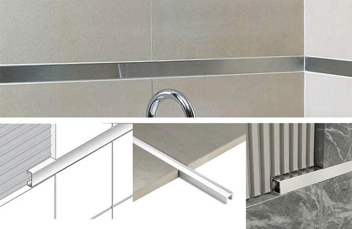 top level brushed metal aluminum listello border tile trim for wall design buy listello border tile listello listello tile trim product on