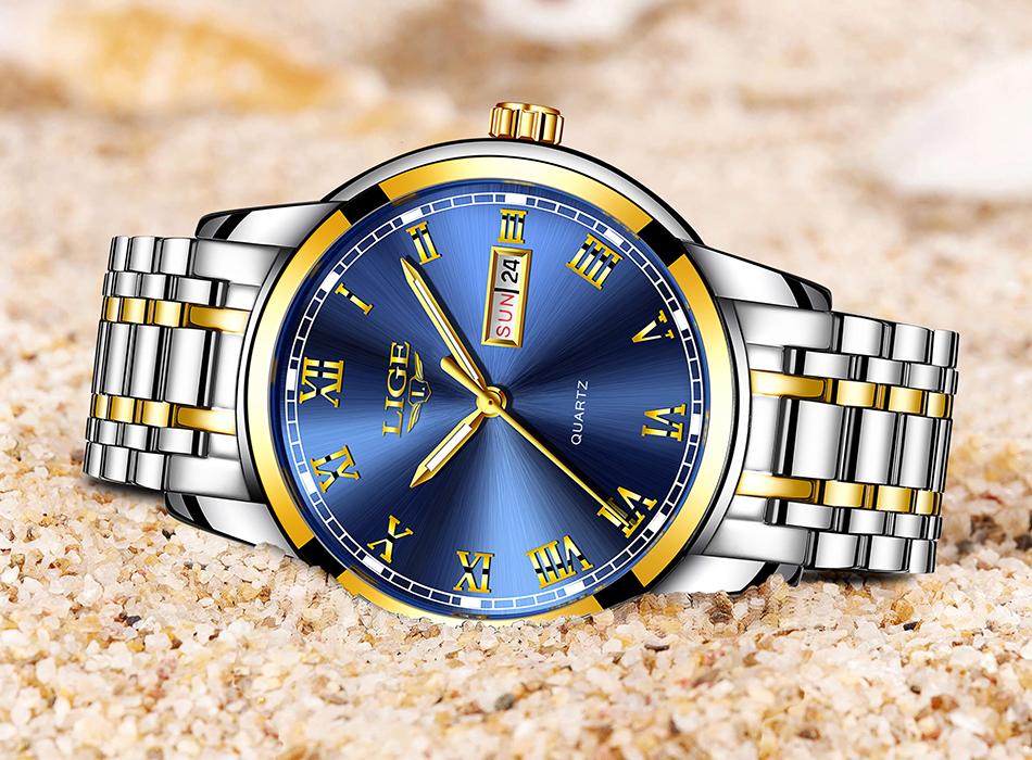 HTB198zuf3DD8KJjy0Fdq6AjvXXa7 LIGE Watch Men Fashion Sports Quartz Full Steel Gold Business Mens Watches Top Brand Luxury Waterproof Watch Relogio Masculino