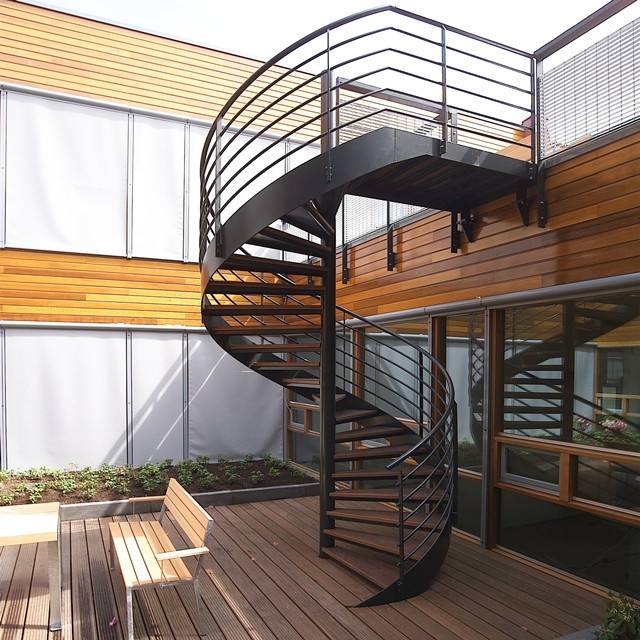 Outdoor Steel Beam Metal Spiral Staircase For Sale Buy Metal   Exterior Spiral Staircase Cost   Spiral Stair Case   Deck   Handrail   Iron   Metal
