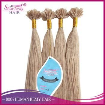 Double Drawn U Tip Hair Extensions Italian Keratin Treatment European Malaysian Fusion Extension Nail
