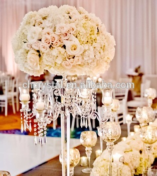 Mh Tz028 Crystal Chandelier Centerpieces Wedding Table