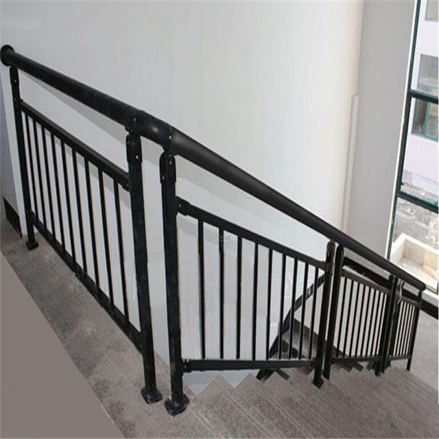 Stainless Steel Tubular Handrail For Interior Stairs Railing | Tubular Stair Railings Design | Simple | Grill Work | Residential Industrial Stair | Welded | Stair Case Railing