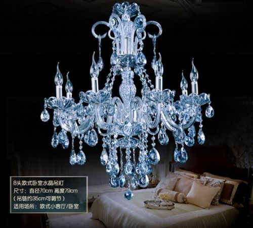 Modern Water Blue Crystal Pendant Lamp Chandelier Product On Alibaba