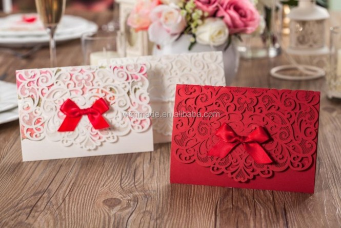 Red Leaves Company Indian Wedding Invitations Handmade Paper Cards In La