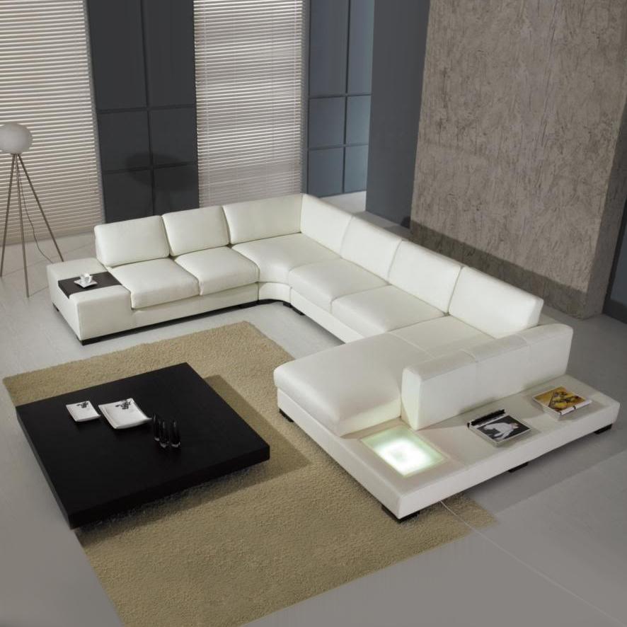 Grossiste Sofa Sectionnel En Cuir Blanc Acheter Les