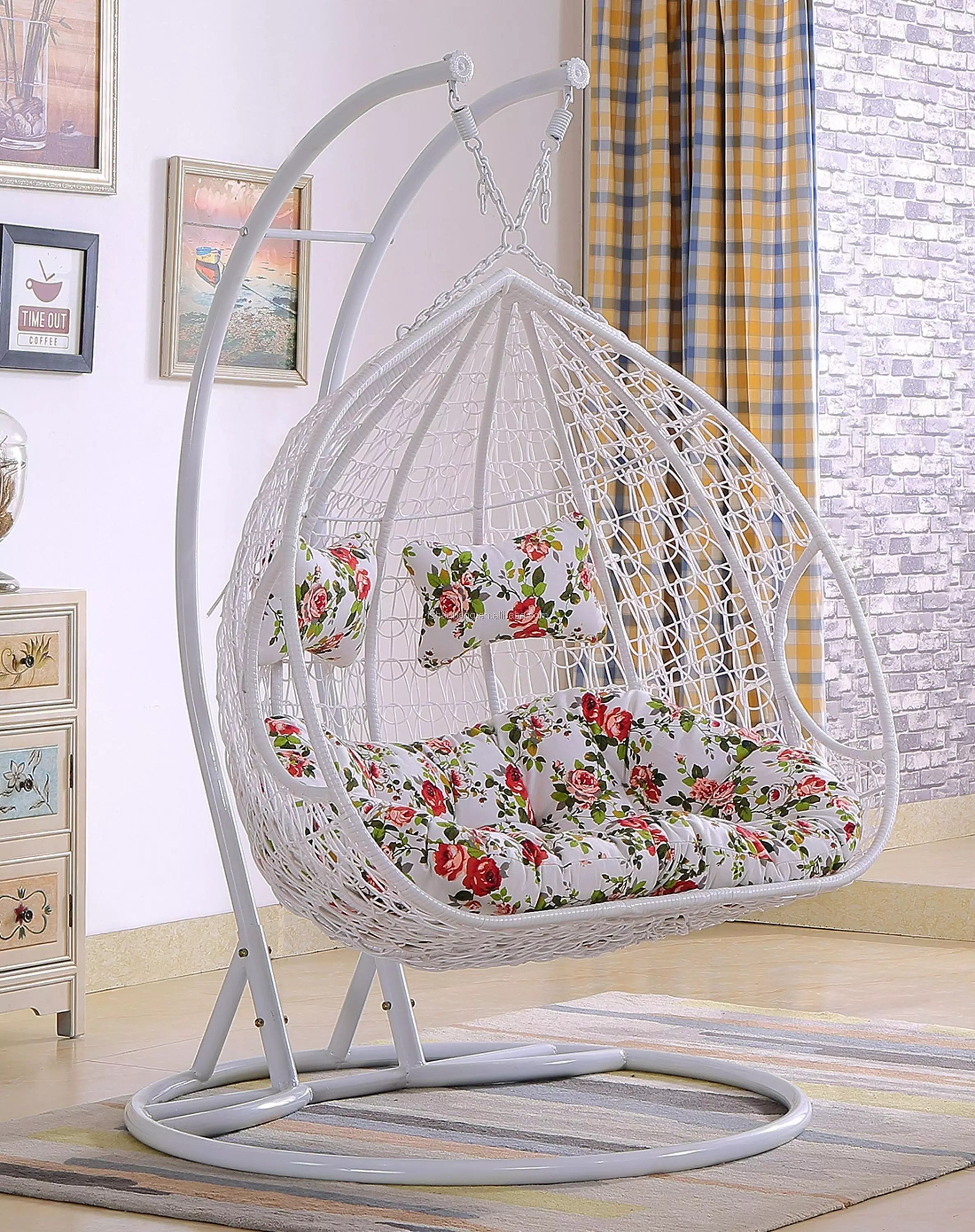 luxury outdoor 2 person garden patio swing hanging chair view hanging chair love rattan product details from foshan hanbang furniture co ltd on