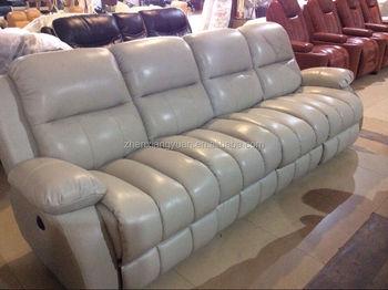 2017 meubles de salon gris en cuir inclinable canape 4 places