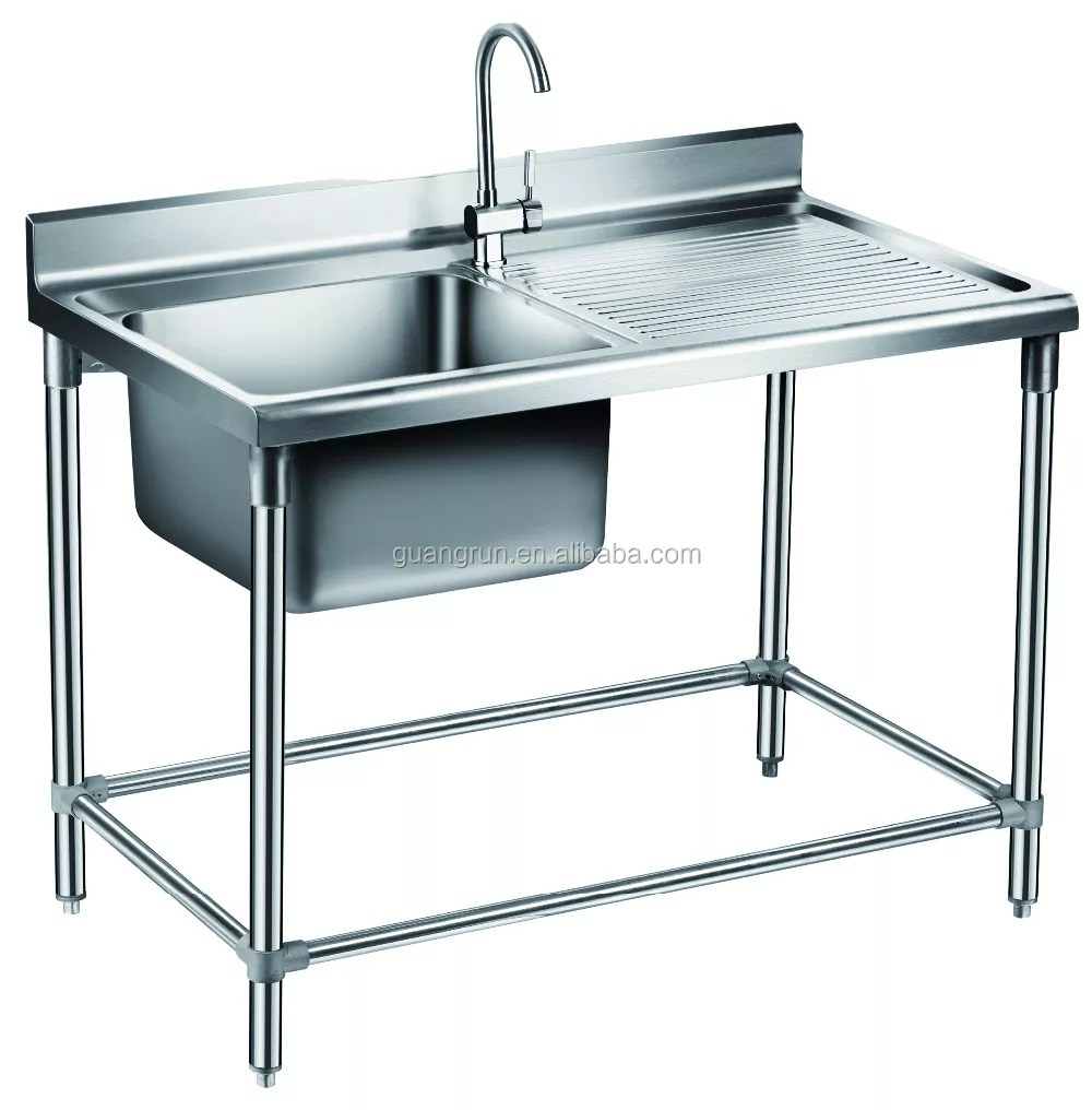 commercial free standing stainless steel kitchen lab sink with drainboard gr 302b buy double bowl food service sink industrial lab sink sink with