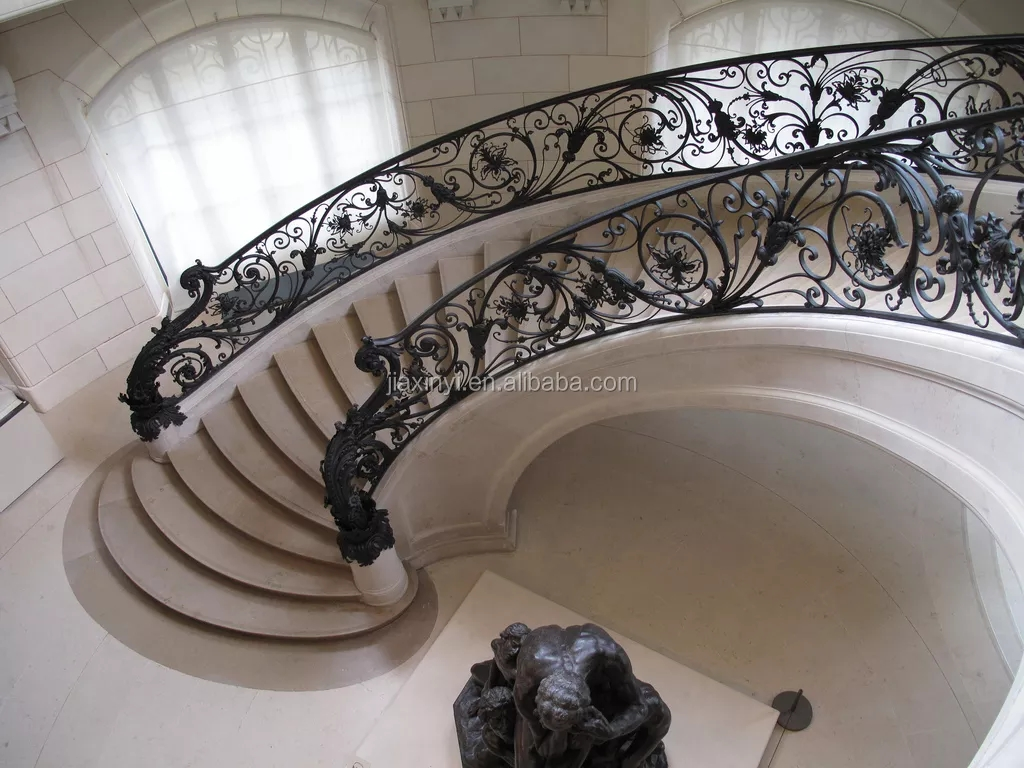 Indoor Art Wrought Iron Stair Railing Designs Luxury Wrought Iron   Ladder Railing Design Iron   Grill   Stair Parts   Wrought Iron   Metal   Banister
