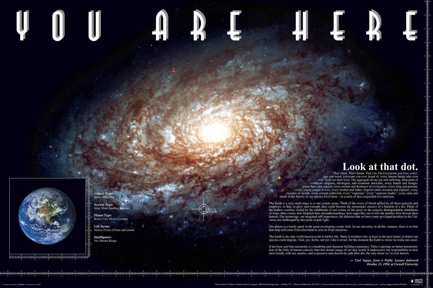 buy you are here carl sagan quote