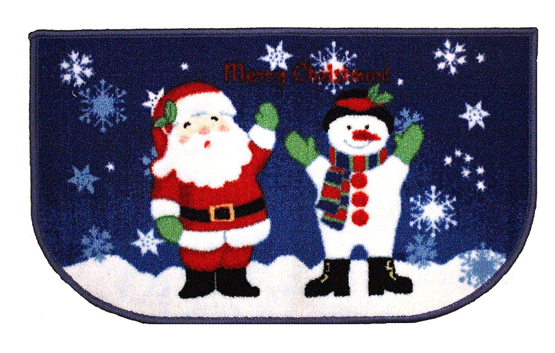 Buy Christmas Kitchen Rug Santa Reindeer Snowman Printed