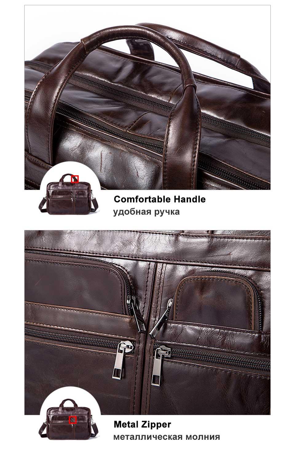 HTB1IMirg0zJ8KJjSspkq6zF7VXao WESTAL men's genuine leather bag for men's briefcase office bags for men leather laptop bag document business briefcase handbag