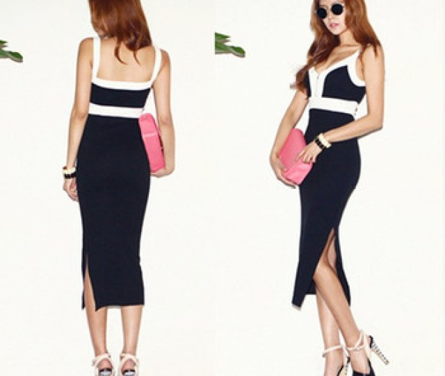 Fashion Dress Naked Crossed Black Back Irregular Maxi Sexy Lades Dress For Daily Shopping Daily Wear
