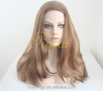 white silk top blonde color highlights jewish wig human hair wig for white women jewish