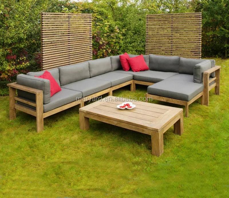l shaped teak wood patio furniture outdoor patio furniture teak wood furniture section sofa set buy outdoor teak sofa set garden furniture