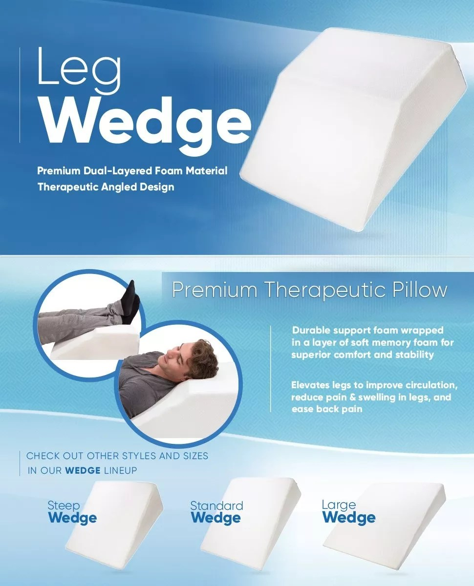 supportive foam wedge leg pillow for elevating legs improved circulation reducing back pain buy leg wedge pillow leg pillow wedge leg pillow product