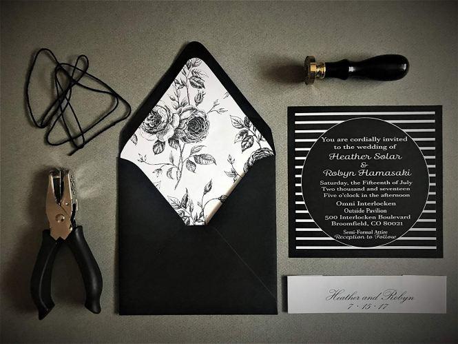 Black And White Wedding Invitation Kits