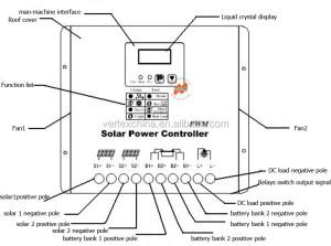 Top Sale Vt12v24v60a Ac Dc Hybrid Solar Charge Controller