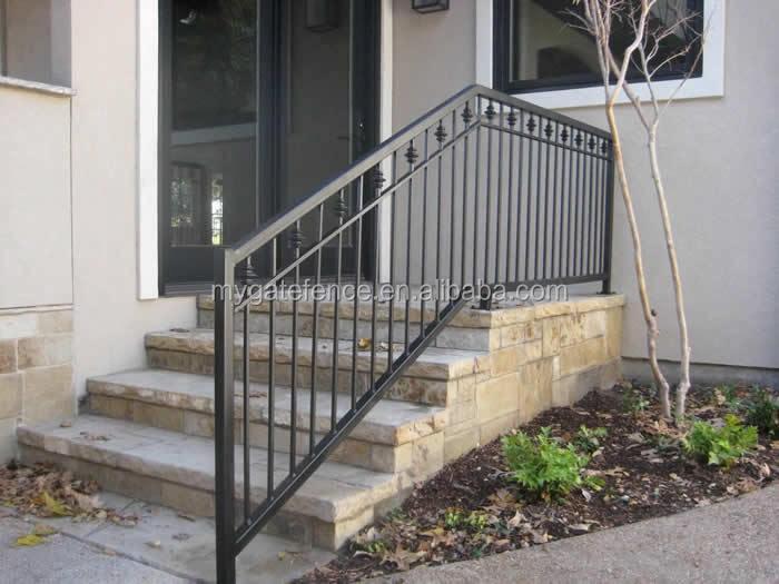 Wrought Iron Decorative Hot Selling Outdoor Metal Stair Railing | Exterior Metal Stair Railing | Contemporary | Steel | Outdoor | Aluminum | Mild Steel