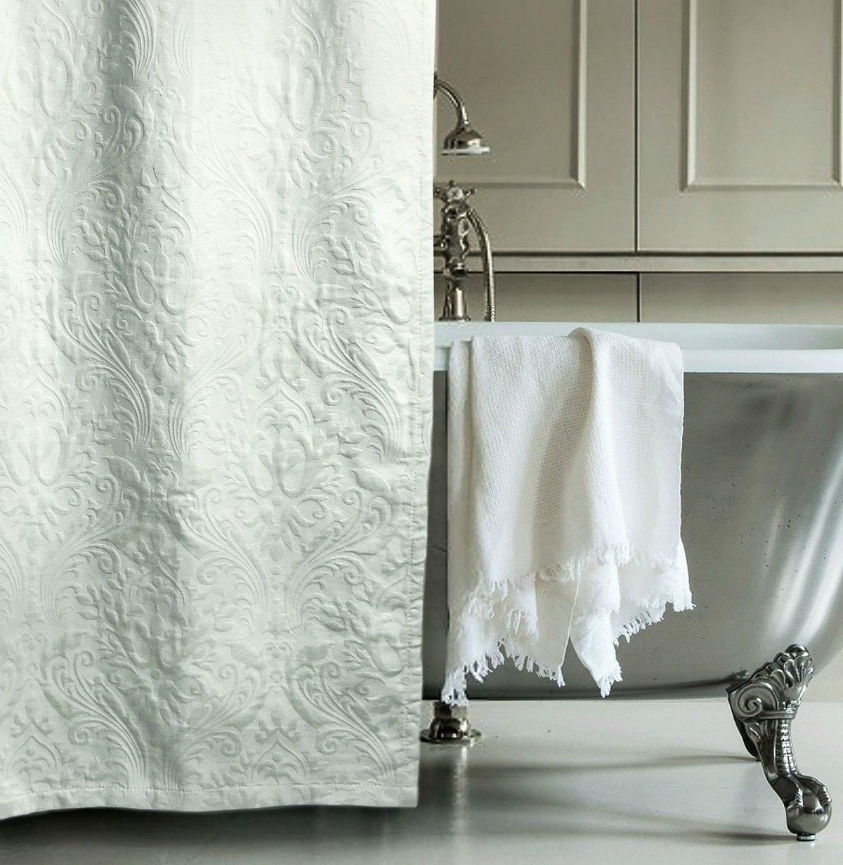 buy matelasse luxury shower curtain by