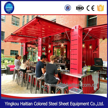 Outdoor Fast Food Kiosk Design Container Barbershop Mini