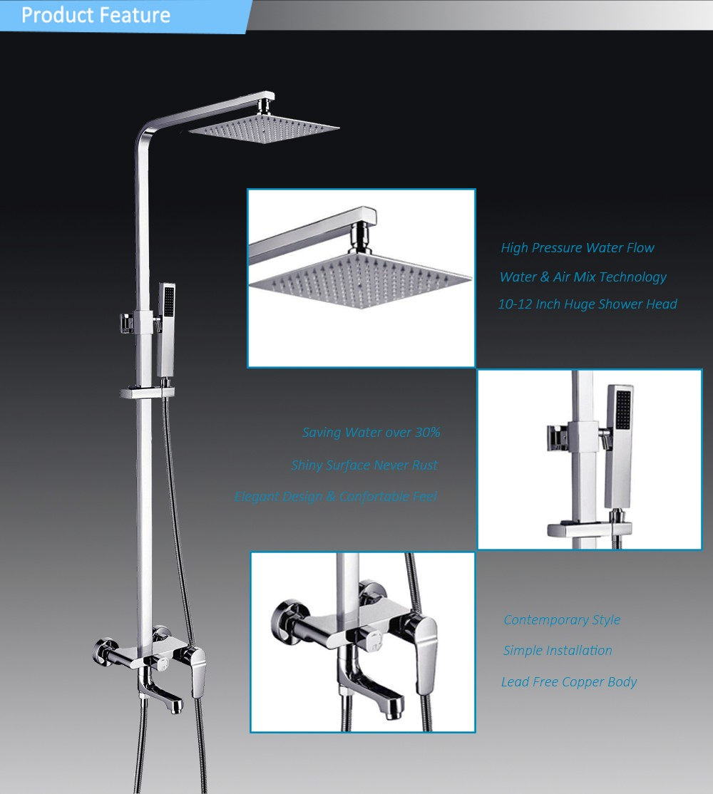 Big Square Shower Head With Massaging Function Rainfall Shower Faucet Comfortable Enjoy Upc Shower Set Buy European Shower Faucet Rainfall Shower