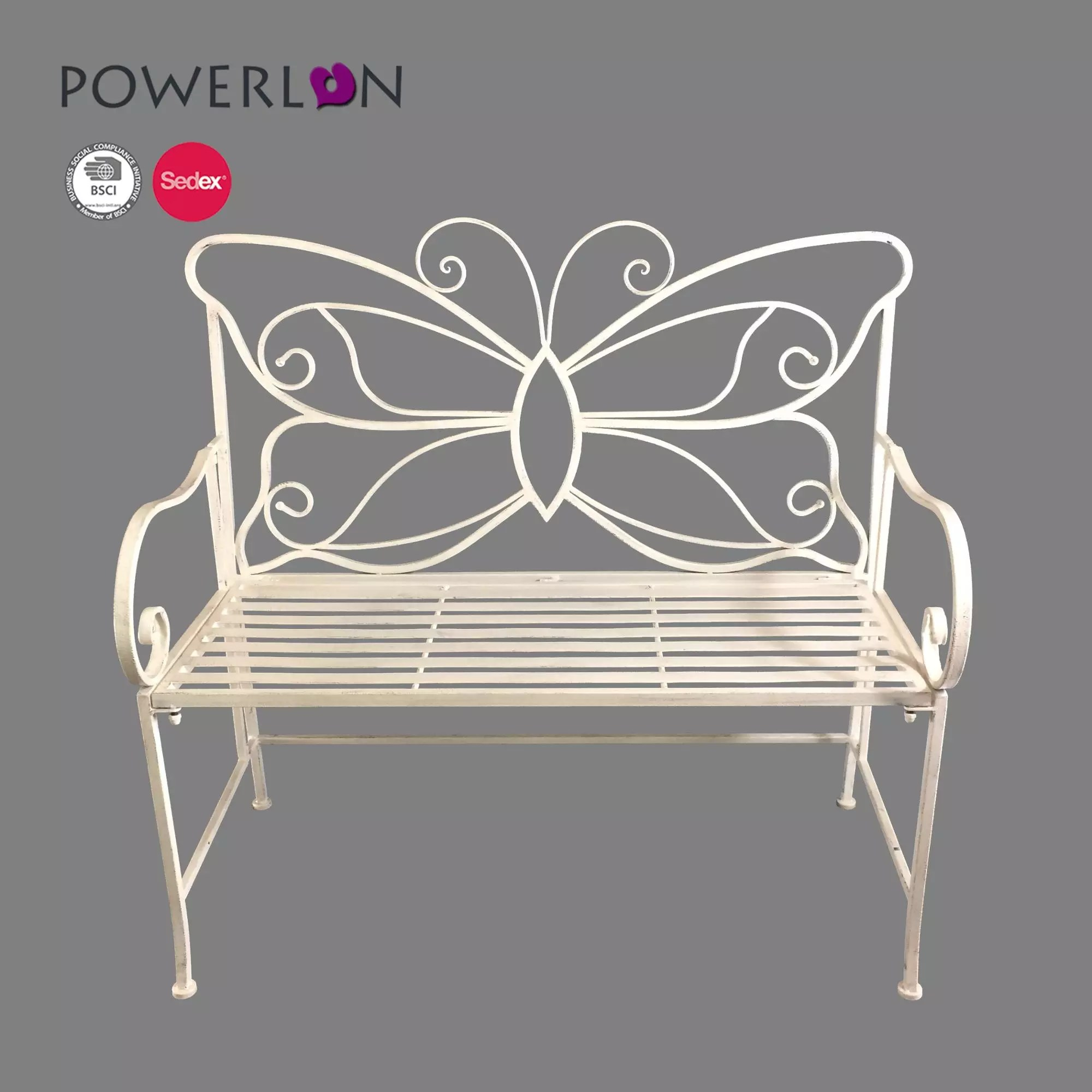 vintage metal garden folding butterfly bench for patio chair buy folding butterfly chair metal bench seat street furniture bench product on