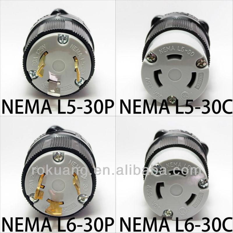 30a Nema Twist Lock Plug Connector L5 30 L6 30