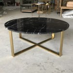 Gold Metal Base Wholesale Round Black Marble Coffee Table Buy Round Coffee Table Marble Wholesale Marble Coffee Table Coffee Table Black Marble Product On Alibaba Com