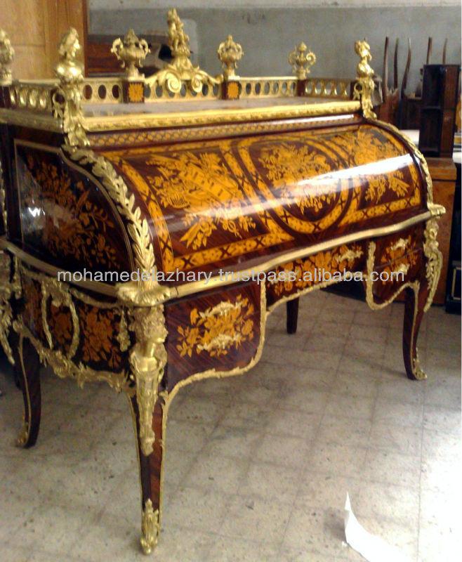 louis xv cylinder roll top bureau du roi the king desk