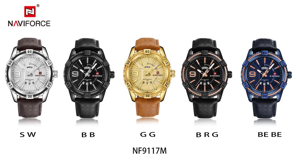 HTB1PLuggmYH8KJjSspdq6ARgVXa4 NAVIFORCE Top Luxury Brand Men Quartz Watch Army Military Sport Business Watches Week Analog Display Male Clock Waterproof Hour